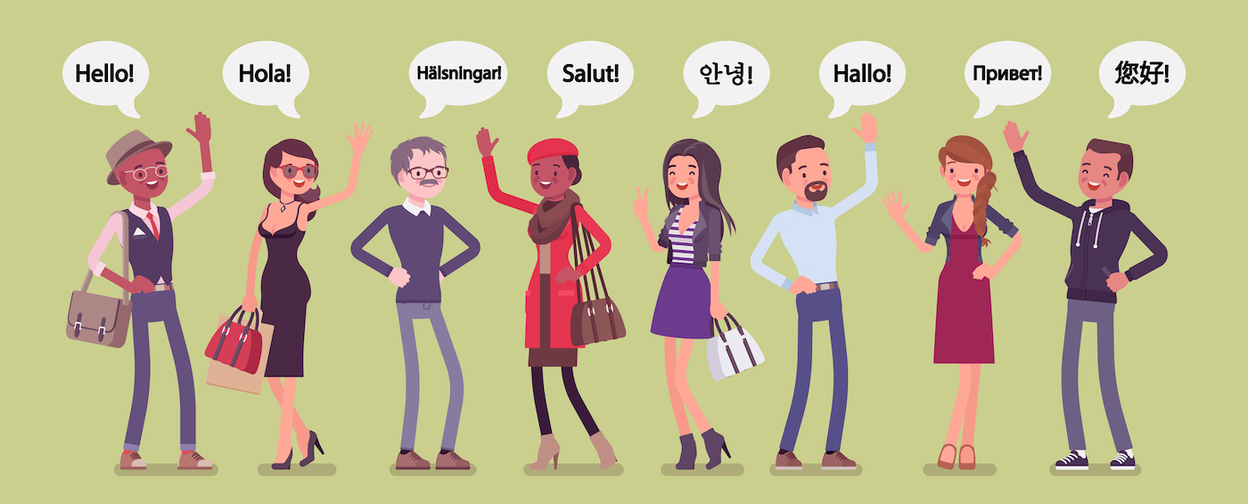 New customers welcomed in different languages
