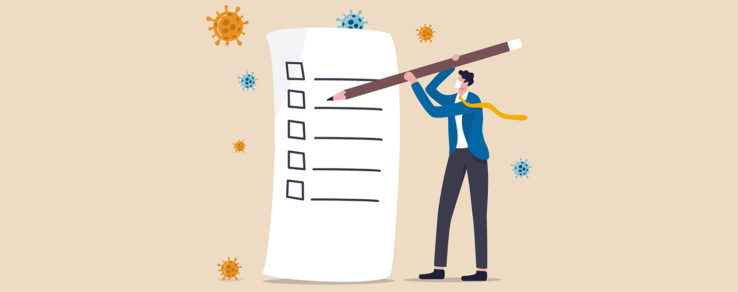 Marketer with a giant checklist