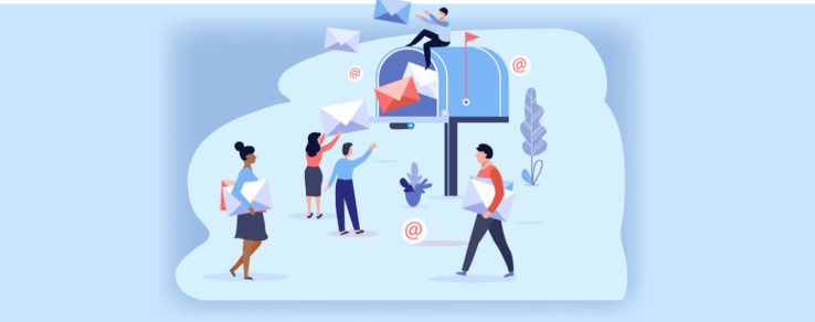 Marketers delivering email messages to customers