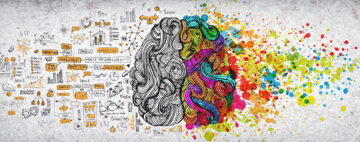 Illustration of a creative mind at work