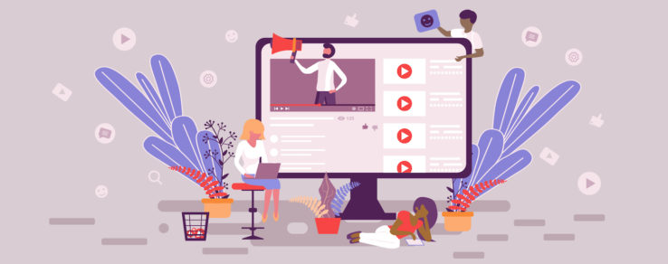 Illustration of marketers using video content