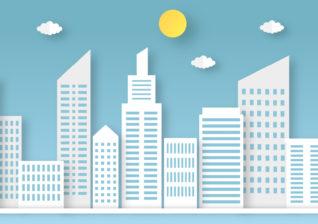 Illustration of businesses using solar chimneys