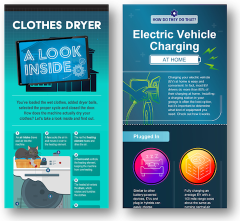 Examples of marketplace content for energy utilities