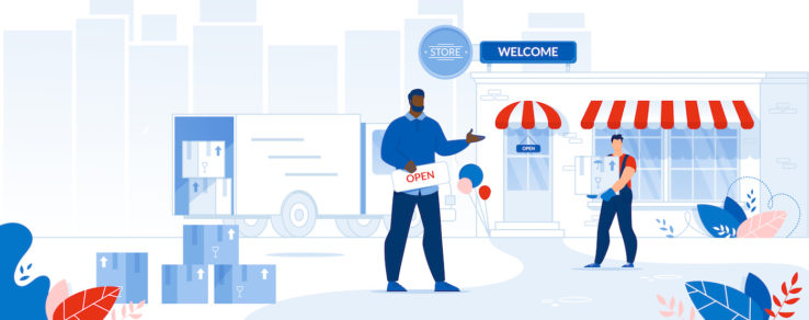 Illustration of new business customers utility sends welcome series