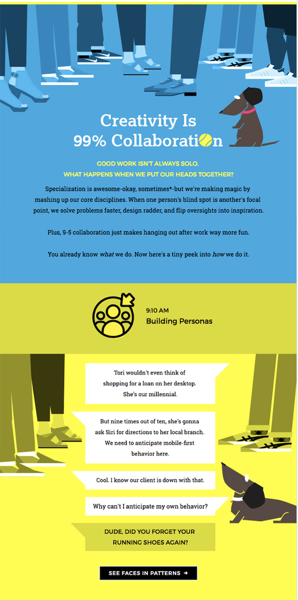 Example of colorful design used in email marketing trends