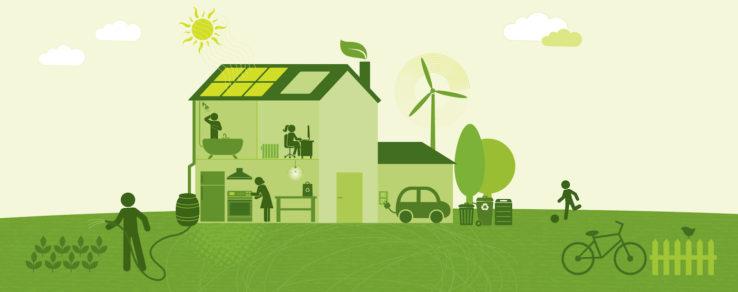 Illustration of energy utility program promotions in spring