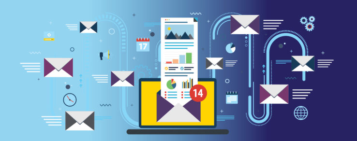 Illustration of dark mode email design