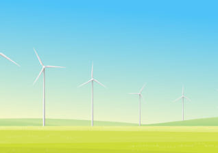 Illustration of wind power to inform energy utility customers