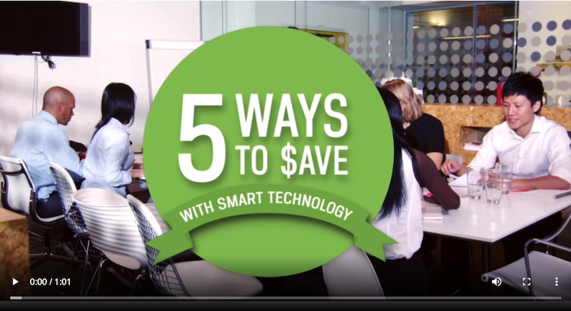 Example of enewsletter content for business customers about smart technology