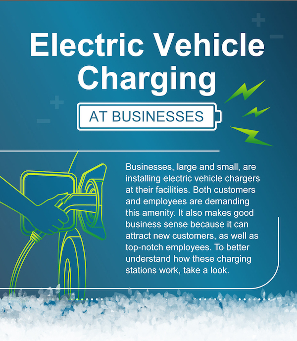 Example of enewsletter content for business customers about electric vehicles