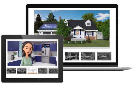 Example of interactive video content for energy utility customers