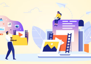Illustration of creative marketing ideas for energy utility promotions