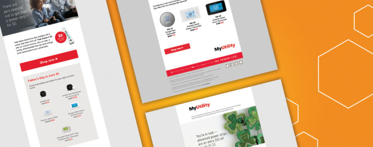 Examples of digital marketing to promote energy utility marketplace sites