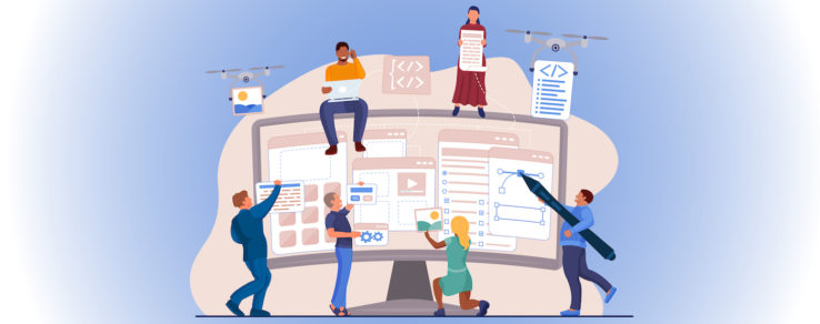 Illustration of webinar about interactive content