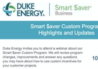 Case study of webinar program for Duke Energy