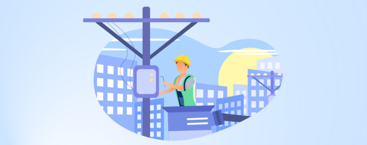 Illustration of energy utility improving customer satisfaction with outage communications